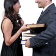 Couple with Books — Stock Photo