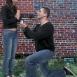 Man Proposing - Stock Photo