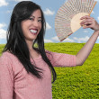 Royalty-Free Stock Photo: Woman with Oriental Fan
