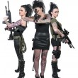Women with Assault Rifles — Stock Photo