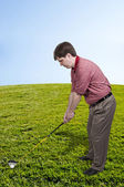 Man Golfer — Stockfoto