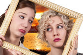 Women in a Frame — Stock Photo