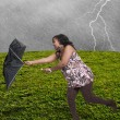 Woman Holding Umbrella — Stock Photo #26167867