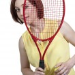 Stock Photo: Woman Playing Tennis