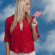 Woman with a Flag — Stock Photo #34979893