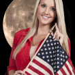 Woman with a Flag — Stock Photo #34979775
