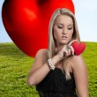 valentines day heart woman — Stock Photo #34979827