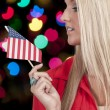 Woman with a Flag — Stock Photo #34979983
