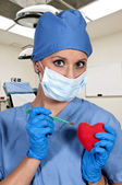 Beautiful Woman Surgeon — Stockfoto