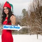 A beautiful black woman elf — Stock Photo