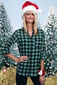 Christmas Woman — Stock fotografie