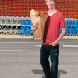 Man Grocery Shopping — Stock Photo