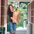 Stock Photo: WomShopping Bags