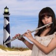 Stock Photo: WomFlutist