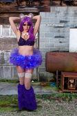 Woman Rave Girl — Stock Photo
