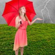 Stock Photo: WomHolding Umbrella