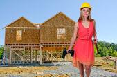 Kvinnliga byggarbetare — Stockfoto