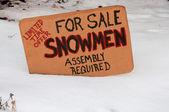 снеговики для продажи — Стоковое фото