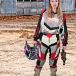 Motocross Motorcycle Girl — Stock Photo #40628157