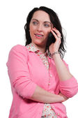 Housewife on the Phone — Stock Photo