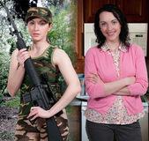 Woman Military Mom — Foto de Stock