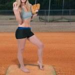 Woman Baseball Player — Stock Photo #41830053