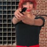Woman with Gun — Stock Photo #47293583