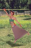 American Indian Woman — Stock Photo