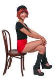 Beautiful Woman Sitting — Stock Photo
