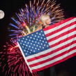 Fireworks at Full Moon — Stock Photo #7117957