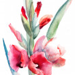 Beautiful flowers, Watercolor painting — 图库照片