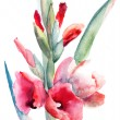 Beautiful flowers, Watercolor painting — Stock Photo #13753083