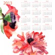 Template for calendar 2013 - Stock Photo