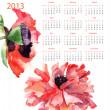 Template for calendar 2013 — Stock Photo #13753105