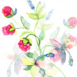 Decorative floral background - Stock Photo