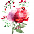Decorative Roses flowers — Stock Photo