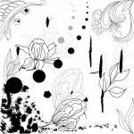 Grunge floral background — Stock Vector #2780724
