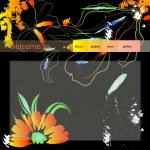 Website design template with flowers — Stock Vector #2997174