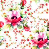 Roses flowers, seamless wallpapers — Stock Photo