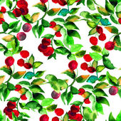 Seamless pattern with red berry — Stock Photo