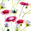 Stylized wild flowers — Stockfoto