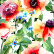 Floral seamless pattern — Stockfoto