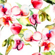 Seamless pattern with Pink orchids flowers — Stock Photo #37097215