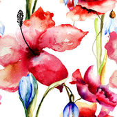 Seamless background with Spring flowers — Foto Stock