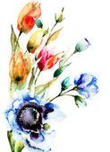 Original Spring flowers — Stock Photo