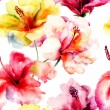 Seamless pattern with Lily flowers — Stock Photo