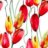Illustrazione ad acquerello di fiori tulipani — Foto Stock