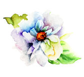 Decorative blue flower — Stock Photo