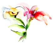 Stylizované letní květiny — Stock fotografie
