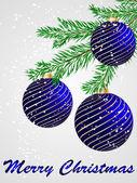 Wektor piłka ozdobne kartki świąteczne — Wektor stockowy